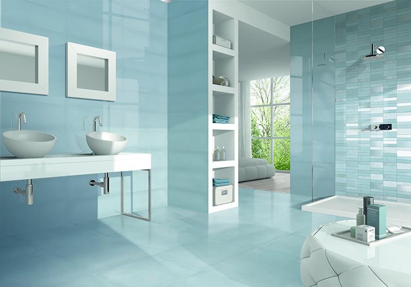 Sky Rise Blue Decor Wall Tile 200x500mm N C Tiles And Bathrooms
