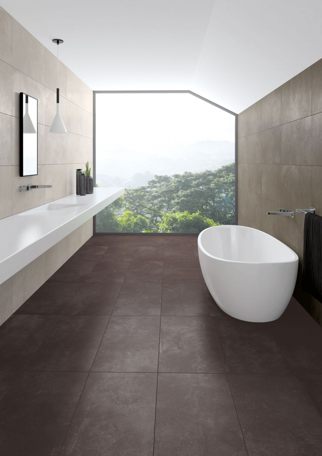 Progress Dark Grey Natural Out Rectified Wall Floor Tile 443x888mm N C Tiles And Bathrooms