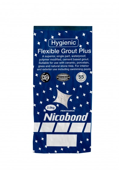 Nicobond Flexible Grout Plus Silver Grey