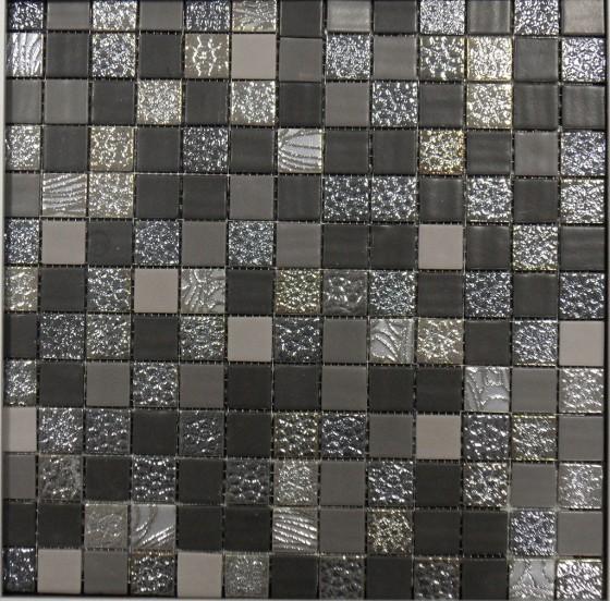 Glamour Black Mirror Texture Mosaic Sheet