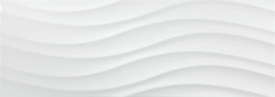 Abstract Gloss White Wave Wall Tile