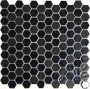 Synergy Hexagon Glass Black Mosaic Sheet