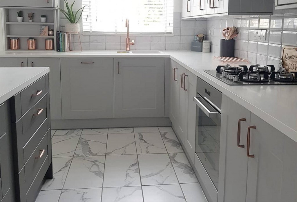 marble bevels and statuario kitchen transformation 2